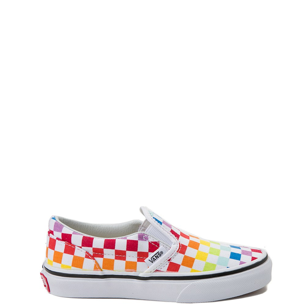 Youth Vans Slip On Rainbow Chex Skate Shoe