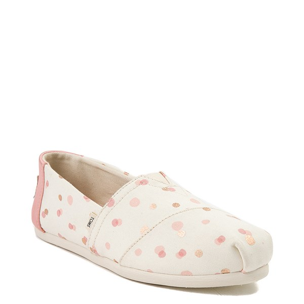alternate view Womens TOMS Classic Slip On Casual Shoe - Natural / PinkALT1