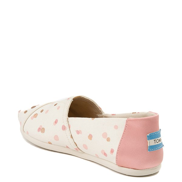 alternate view Womens TOMS Classic Slip On Casual Shoe - Natural / PinkALT2