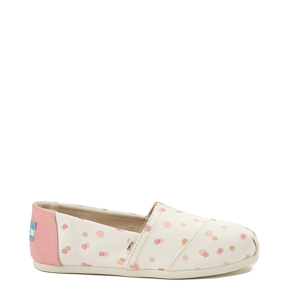 Womens TOMS Classic Slip On Casual Shoe - Natural / Pink
