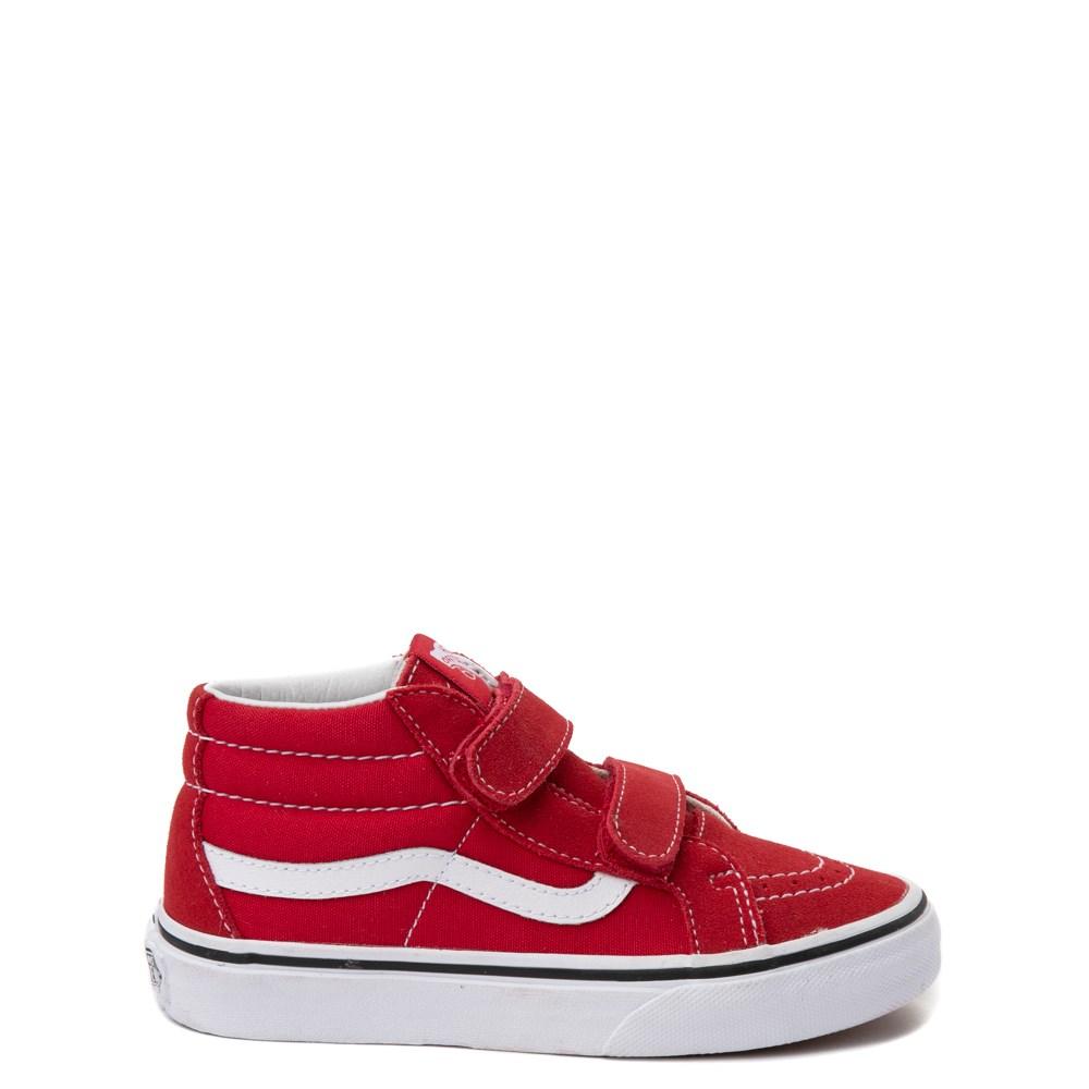 Youth Red Vans Sk8 Mid Skate Shoe