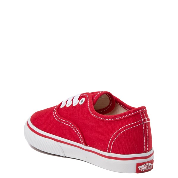 alternate view Vans Authentic Skate Shoe - Baby / Toddler - RedALT1