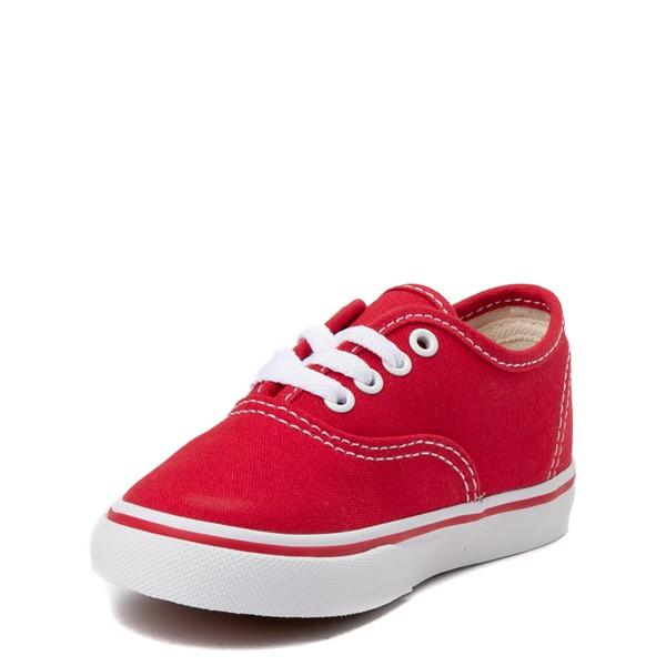 alternate view Vans Authentic Skate Shoe - Baby / Toddler - RedALT2
