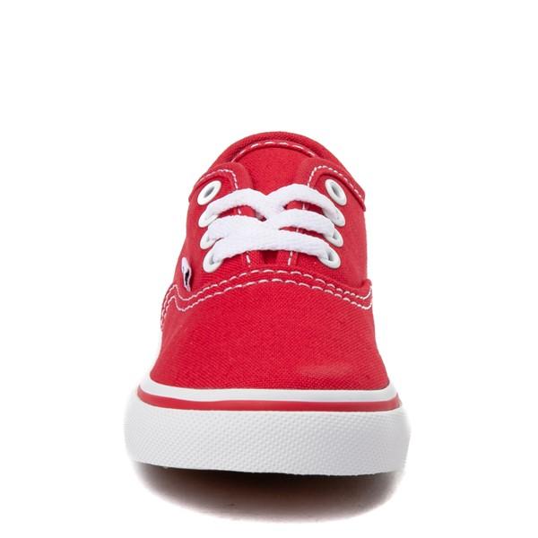 alternate view Vans Authentic Skate Shoe - Baby / Toddler - RedALT4