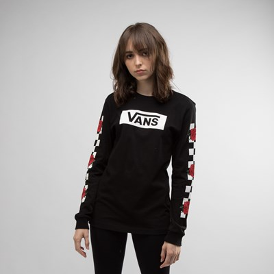 Main view of Womens Vans Rose Checkered Long Sleeve Tee