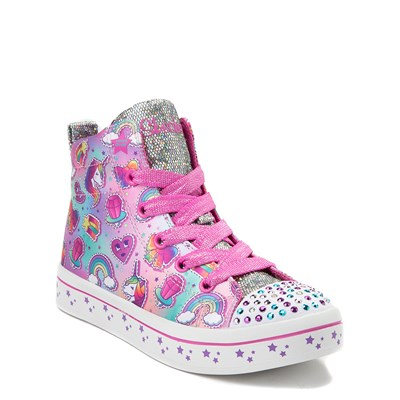 Alternate view of Youth Skechers Twinkle Toes Twilight Hi Sneaker