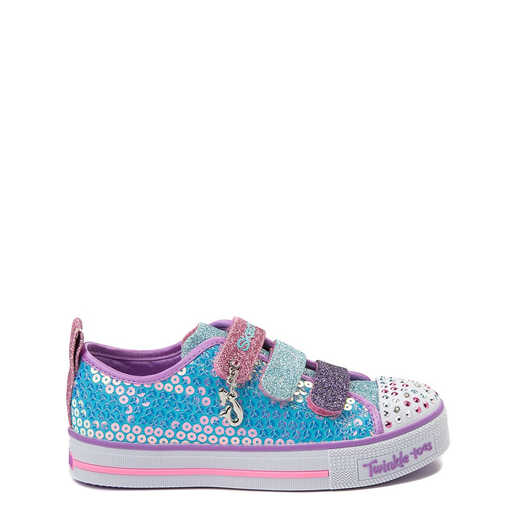 Skechers Twinkle Toes Mermaid Sneaker - Little Kid