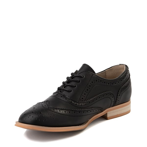 alternate view Womens Wanted Babe Oxford Casual Shoe - BlackALT3