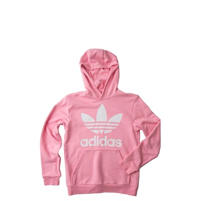 Main view of adidas Trefoil Hoodie - Girls Little Kid