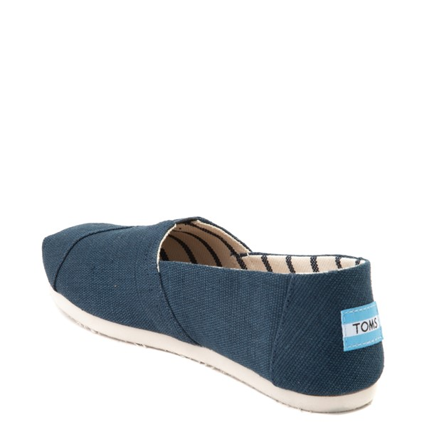 alternate view Womens TOMS Classic Slip On Casual Shoe - BlueALT1