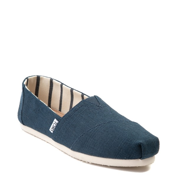 alternate view Womens TOMS Classic Slip On Casual Shoe - BlueALT5