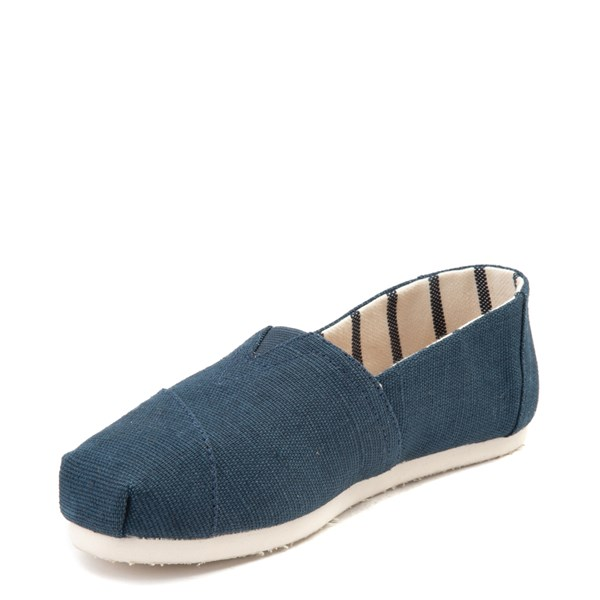 alternate view Womens TOMS Classic Slip On Casual Shoe - BlueALT3