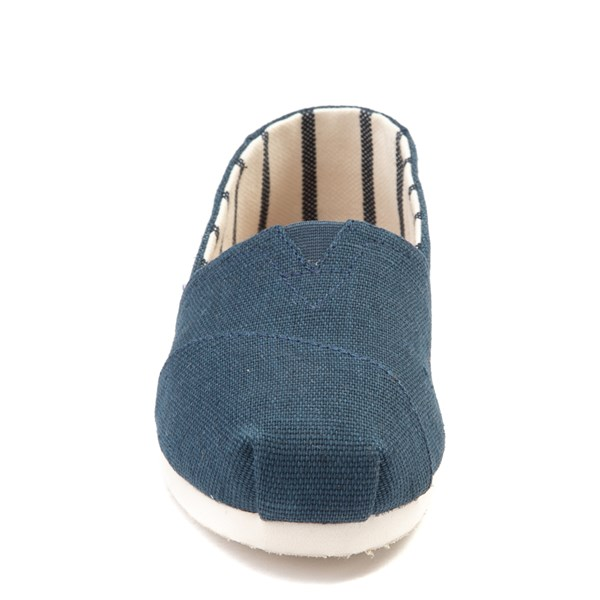 alternate view Womens TOMS Classic Slip On Casual Shoe - BlueALT4