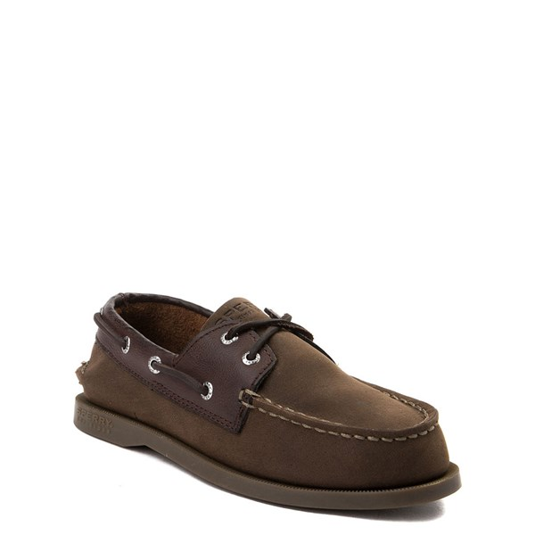 alternate view Sperry Top-Sider Authentic Original Boat Shoe - Little Kid / Big Kid - BrownALT1