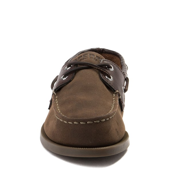 alternate view Sperry Top-Sider Authentic Original Boat Shoe - Little Kid / Big Kid - BrownALT4