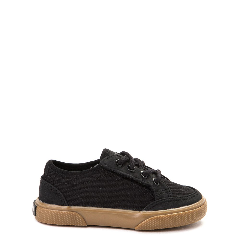 Sperry Top-Sider Deckfin Boat Shoe - Toddler / Little Kid - Black / Gum