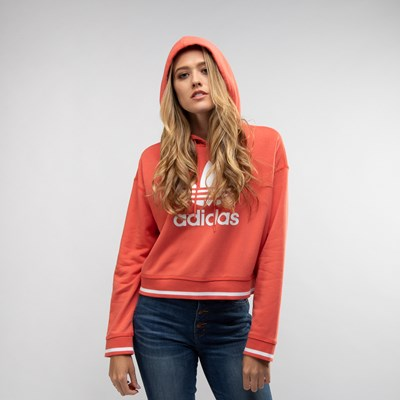 Main view of Womens adidas Trefoil Cropped Hoodie