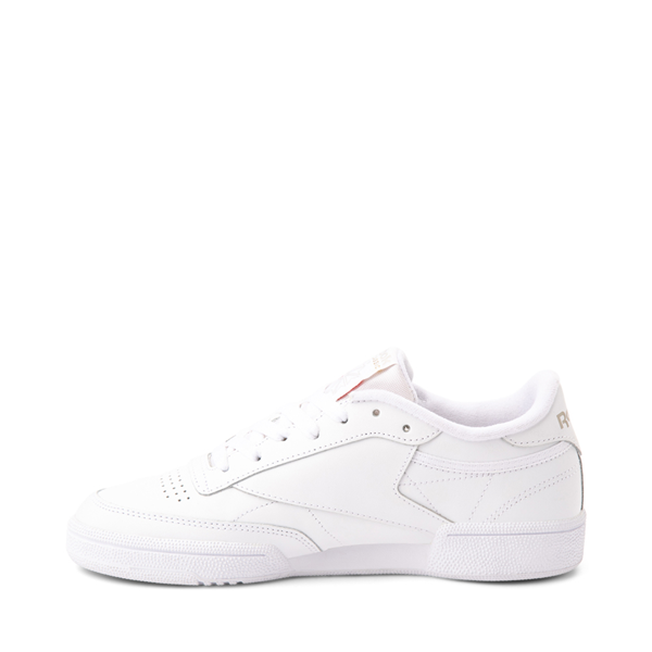 alternate view Womens Reebok Club C 85 Athletic Shoe - White / Light GrayALT1