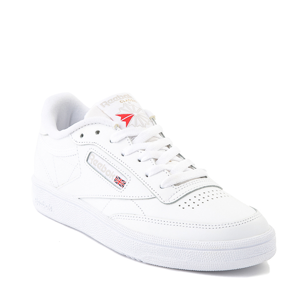 alternate view Womens Reebok Club C 85 Athletic Shoe - White / Light GrayALT5