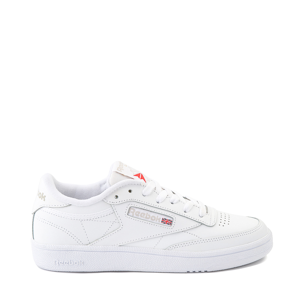 Womens Reebok Club C 85 Athletic Shoe - White / Light Gray