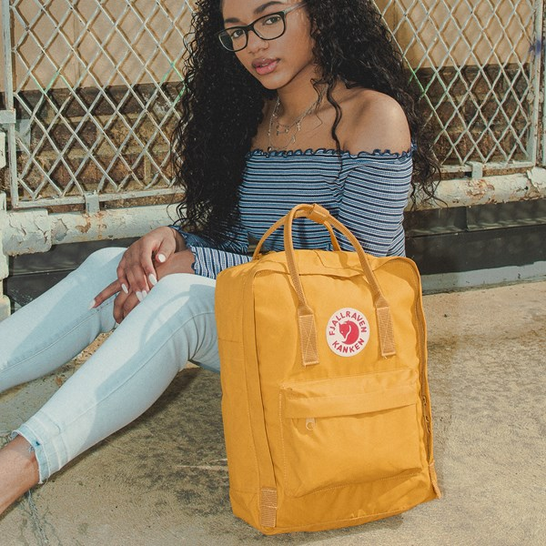 alternate view Fjallraven Kanken Backpack - Ochre YellowB-LIFESTYLE1