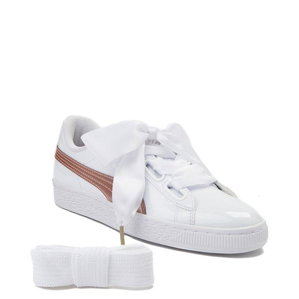 Alternate view of Womens Puma Basket Heart Patent Athletic Shoe