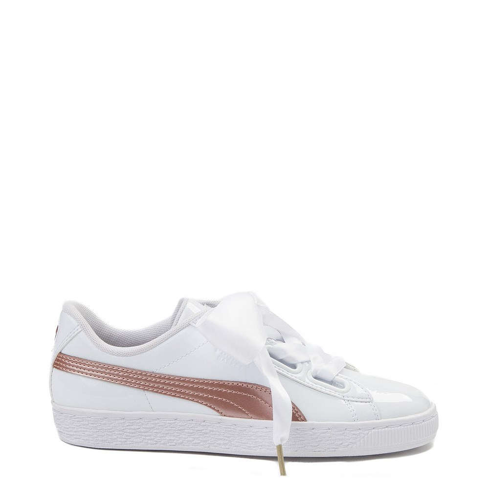 1544ca3dddd Womens Puma Basket Heart Patent Athletic Shoe
