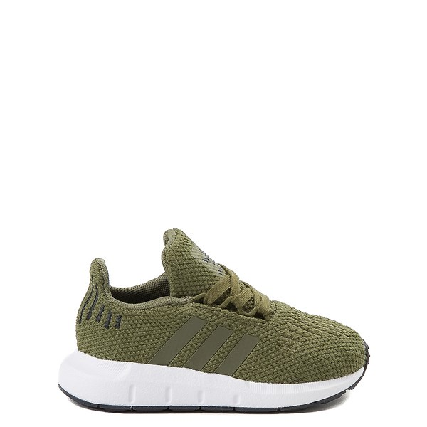Main view of adidas Swift Run Athletic Shoe - Baby / Toddler - Olive