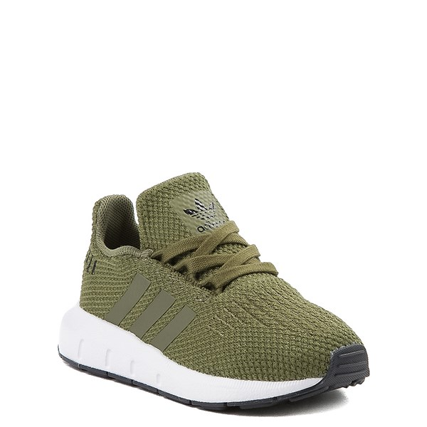 alternate view adidas Swift Run Athletic Shoe - Baby / Toddler - OliveALT1