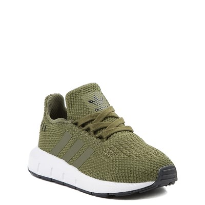 Alternate view of adidas Swift Run Athletic Shoe - Baby / Toddler - Olive