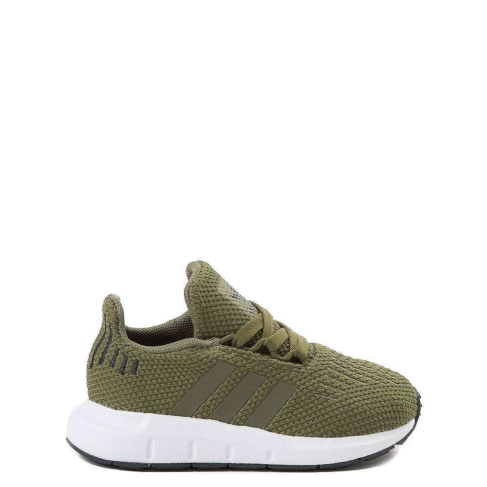 adidas Swift Run Athletic Shoe - Baby / Toddler - Olive
