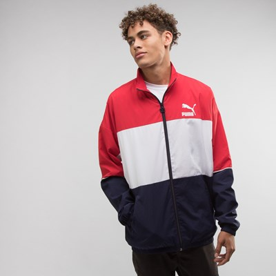 Main view of Mens Puma Retro Windbreaker Jacket