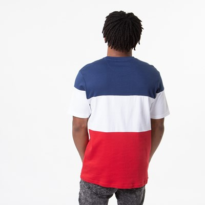Alternate view of Mens Fila Vialli Tee - White / Navy / Red