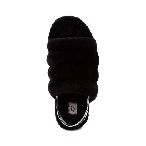alternate view Womens UGG® Fluff Yeah Slide Sandal - BlackALT2