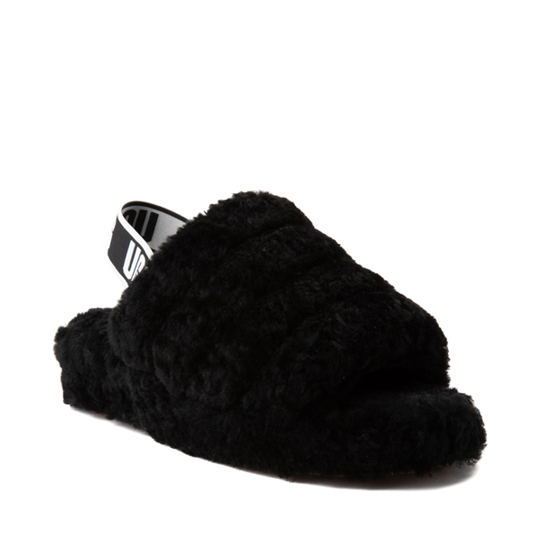 alternate view Womens UGG® Fluff Yeah Slide Sandal - BlackALT5