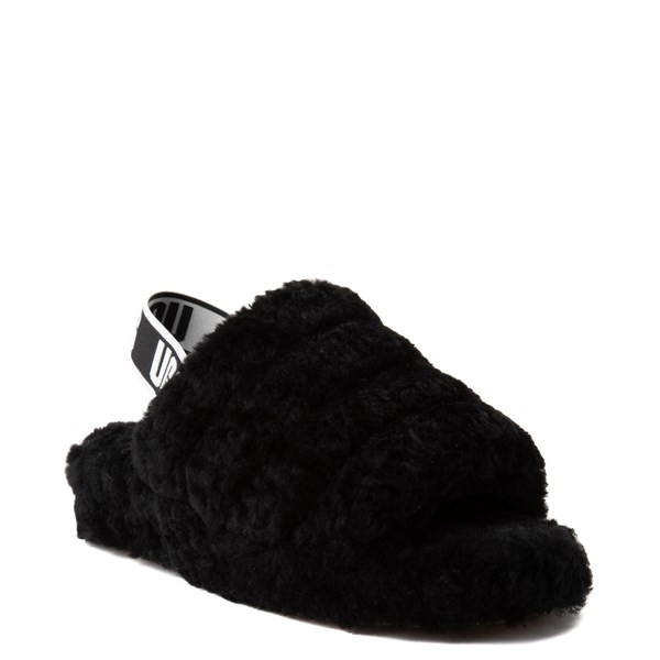 alternate view Womens UGG® Fluff Yeah Slide Sandal - BlackALT1