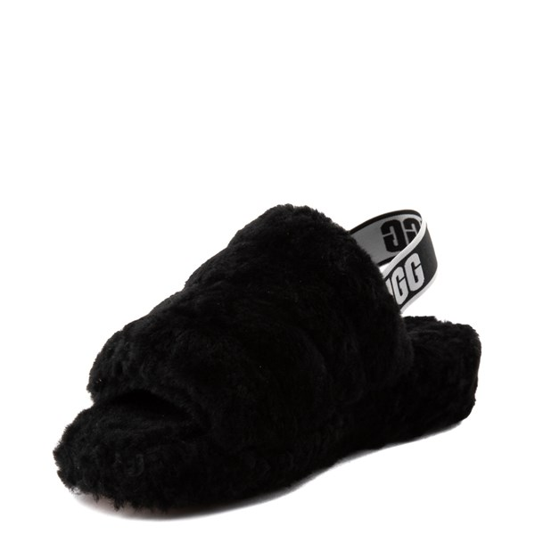 alternate view Womens UGG® Fluff Yeah Slide Sandal - BlackALT3