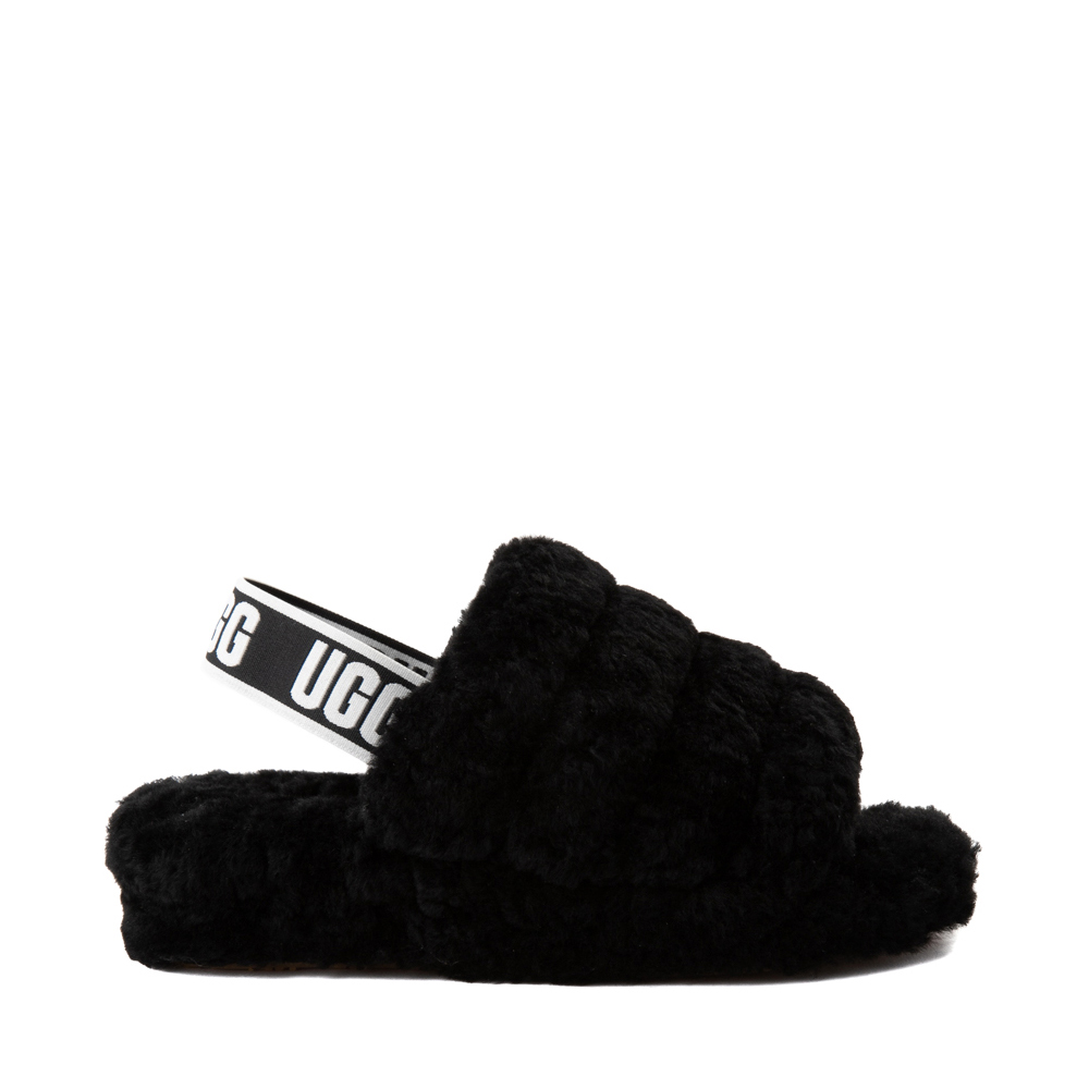 Womens UGG® Fluff Yeah Slide Sandal - Black