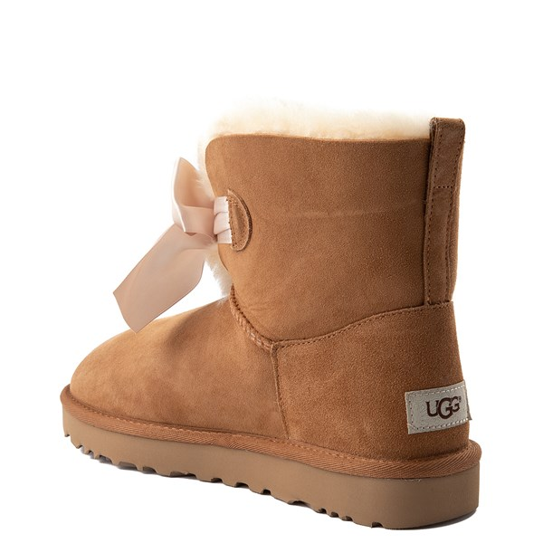alternate view Womens UGG® Gita Bow Mini Boot - ChestnutALT2