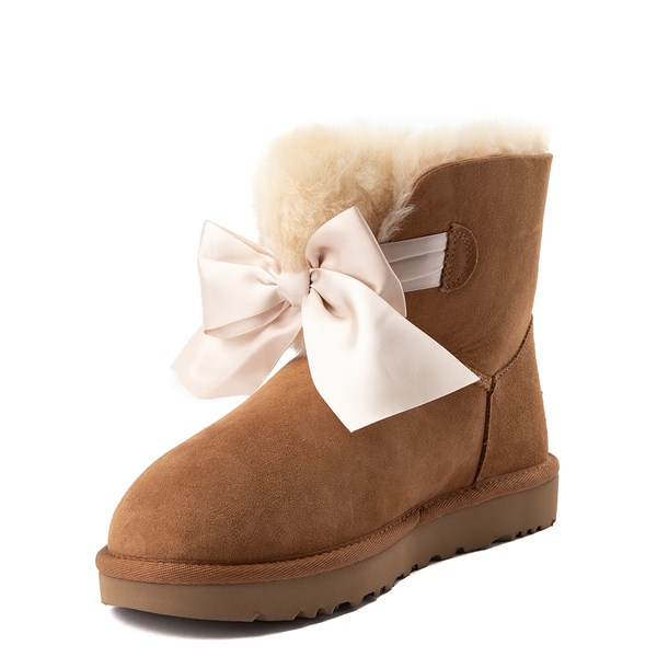 alternate view Womens UGG® Gita Bow Mini Boot - ChestnutALT3