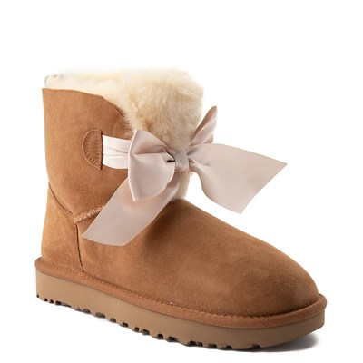 Alternate view of Womens UGG® Gita Bow Mini Boot - Chestnut