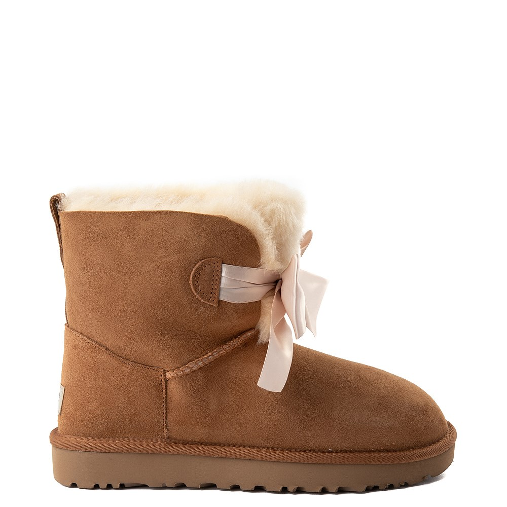 Womens UGG® Gita Bow Mini Boot - Chestnut