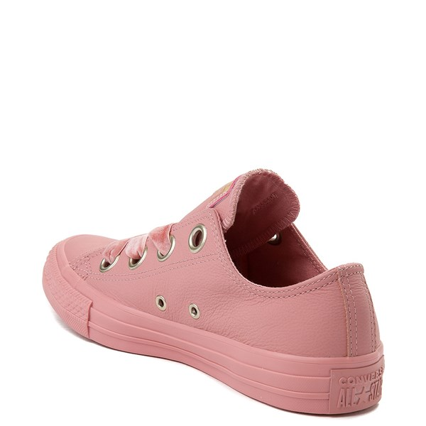 alternate view Womens Converse Chuck Taylor All Star Big Eyelets Lo Leather Sneaker - PinkALT2