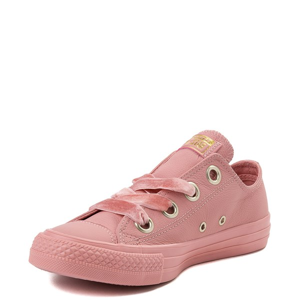 alternate view Womens Converse Chuck Taylor All Star Big Eyelets Lo Leather Sneaker - PinkALT3