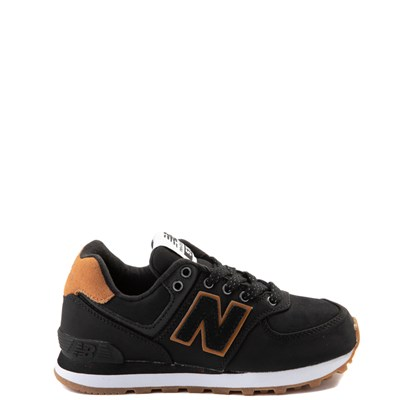 Main view of New Balance 574 Athletic Shoe - Big Kid - Black / Tan