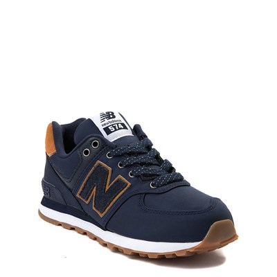 Alternate view of New Balance 574 Athletic Shoe - Little Kid - Navy / Tan