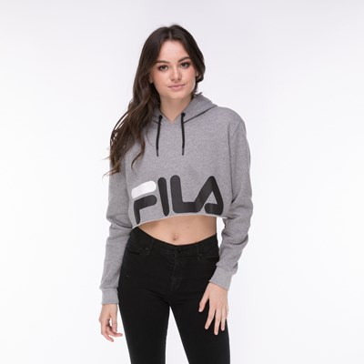 Main view of Womens Fila Pam Cropped Hoodie