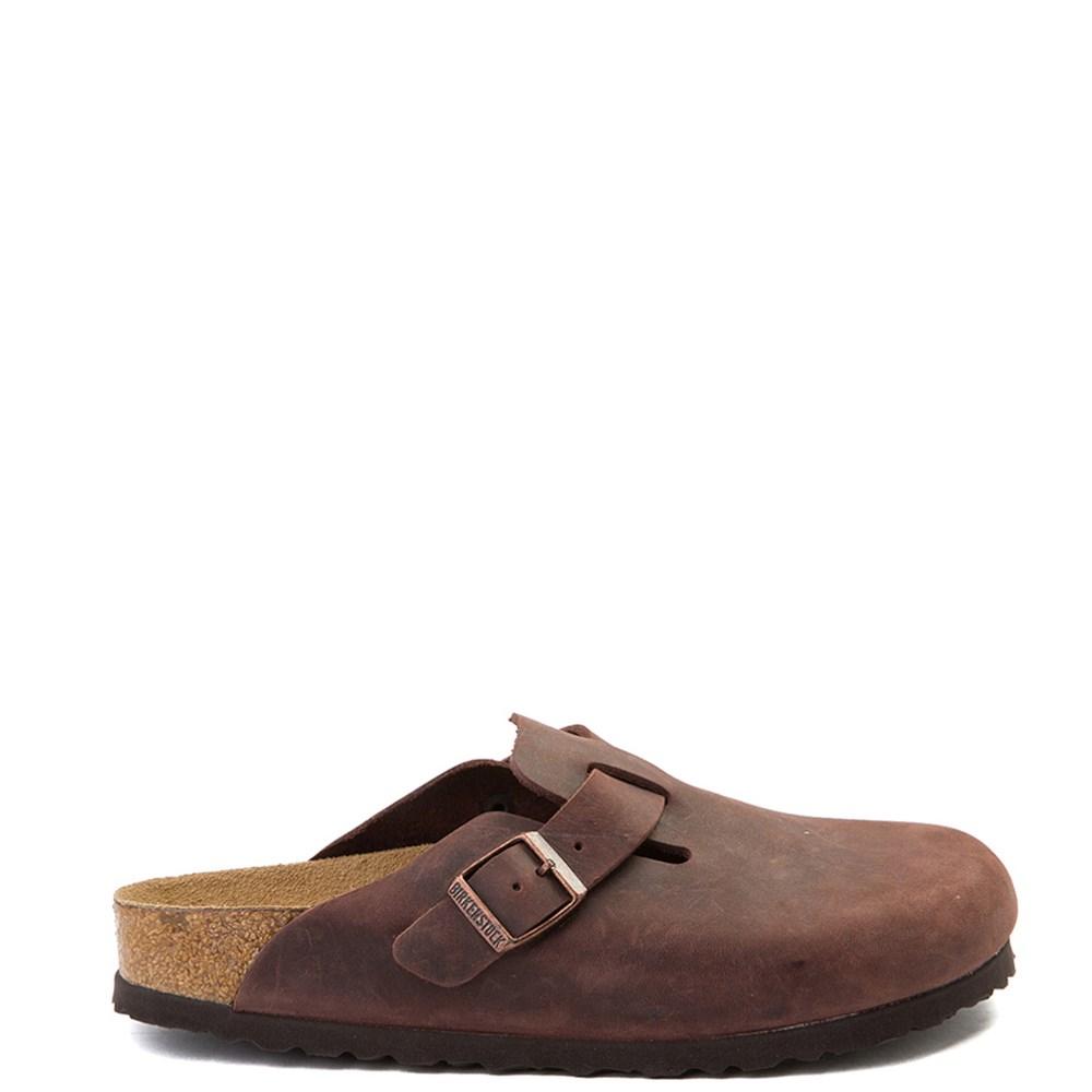 Womens Birkenstock Boston Leather Soft Footbed Clog