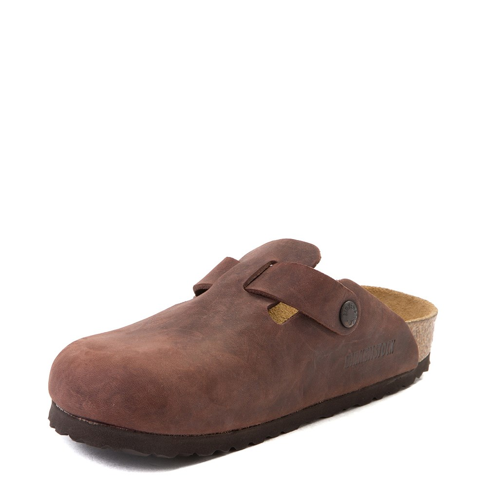 97a9bd93bffed Womens Birkenstock Boston Leather Soft Footbed Clog
