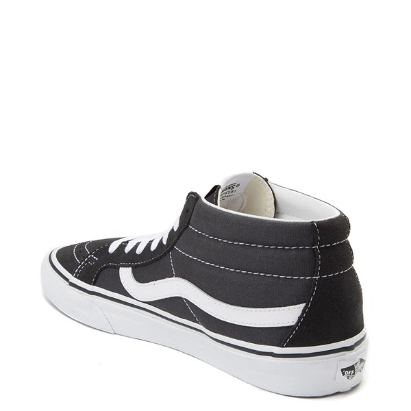 alternate view Vans Sk8 Mid Skate Shoe - Dark GrayALT2
